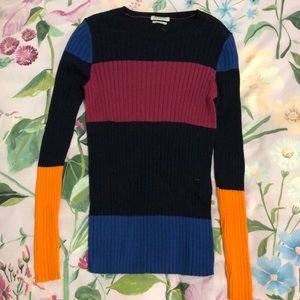 80s inspired cashmere-blend sweater